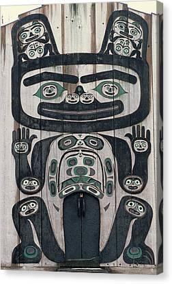 Usa, Alaska, Wrangell, Tlingit Tribal Canvas Print by Gerry Reynolds