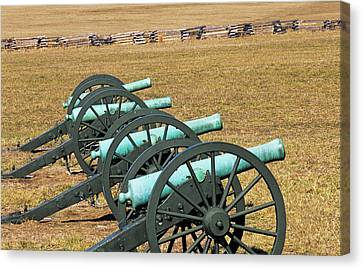 Usa, Arkansas Civil War Cannons At Pea Canvas Print