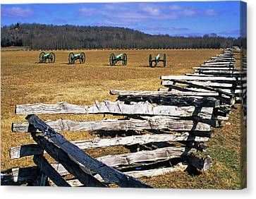 Usa, Arkansas Split-rail Fence Canvas Print