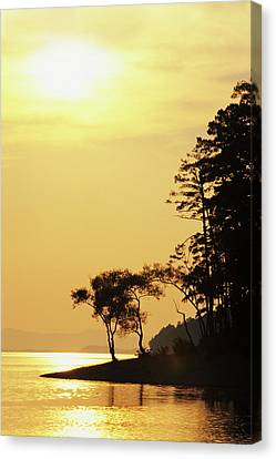 Usa, Arkansas Sunset On Lake Ouachita Canvas Print