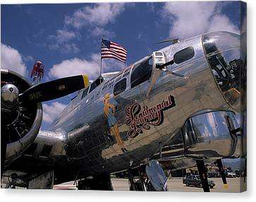 Gerry Canvas Print - Usa, B-17 Bomber Aircraft, Salinas by Gerry Reynolds