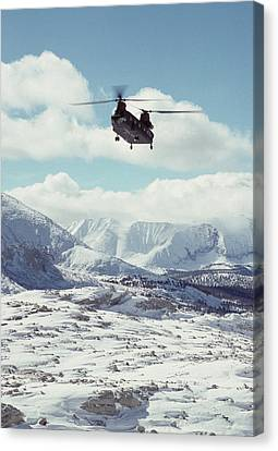 Usa, California, Chinook Search Canvas Print by Gerry Reynolds