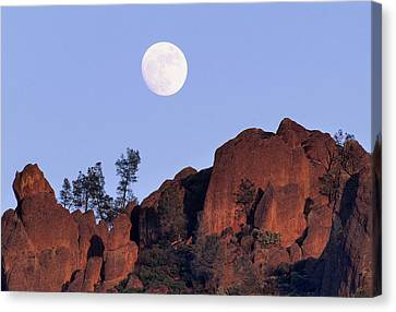 Gerry Canvas Print - Usa, California, Full Moon, High Peaks by Gerry Reynolds