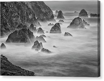 Usa, California, Mendocino Coast Canvas Print by John Ford