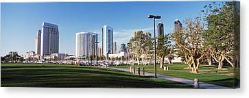 Usa, California, San Diego, Marina Park Canvas Print by Panoramic Images