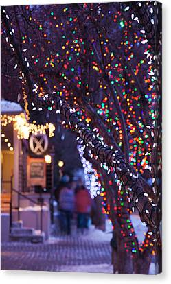 Western Ma Canvas Print - Usa, Colorado, Aspen, Christmas Tree by Walter Bibikow