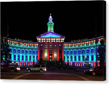 Western Ma Canvas Print - Usa, Colorado, Denver, Denver City by Walter Bibikow