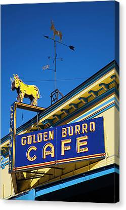 Usa, Colorado, Leadville, Sign Canvas Print by Walter Bibikow