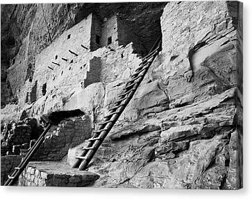 Usa, Colorado, Mesa Verde, Ladder House Canvas Print by John Ford