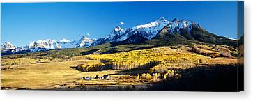 Usa, Colorado, Ridgeway, Last Dollar Canvas Print by Panoramic Images