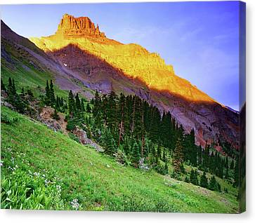 Usa, Colorado Sunset On Yankee Boy Canvas Print by Jaynes Gallery