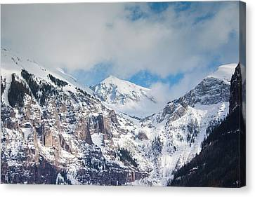 Usa, Colorado, Telluride, Ajax Peak Canvas Print by Walter Bibikow
