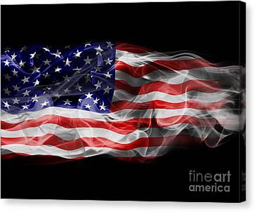 Usa Flag Smoke  Canvas Print by Jt PhotoDesign