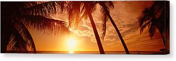 Usa, Florida, Fort Meyers, Sunset Canvas Print by Panoramic Images
