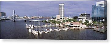 Usa, Florida, Jacksonville, St. Johns Canvas Print by Panoramic Images