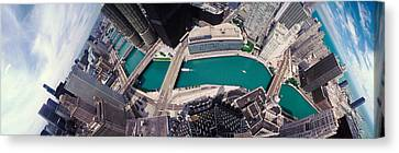 Usa, Illinois, Chicago, Aerial View Canvas Print by Panoramic Images