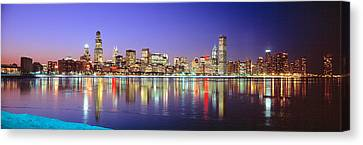 Usa, Illinois, Chicago, Night Canvas Print by Panoramic Images