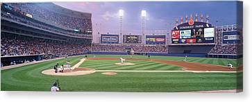 Usa, Illinois, Chicago, White Sox Canvas Print by Panoramic Images