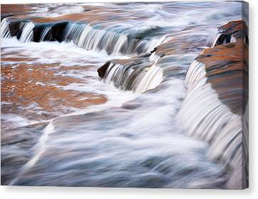Indiana Landscapes Canvas Print - Usa, Indiana Cataract Falls State by Rona Schwarz
