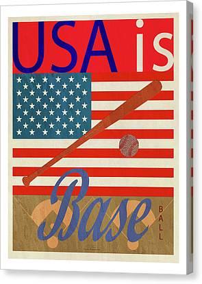 Usa Is Baseball Canvas Print
