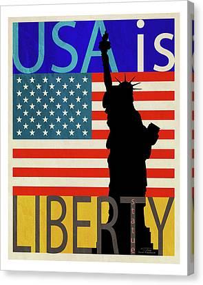 Usa Is Liberty Canvas Print