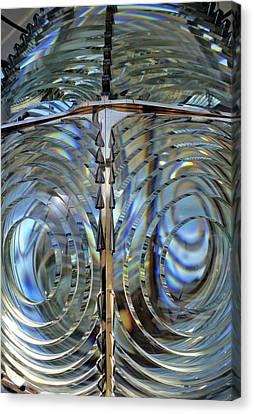 Usa, Lighthouse Lens, Oregon Canvas Print by Gerry Reynolds
