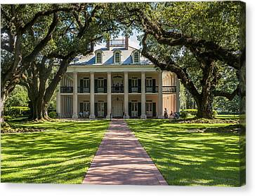 Usa, Louisiana, Oak Alley Plantation Canvas Print by Dosfotos