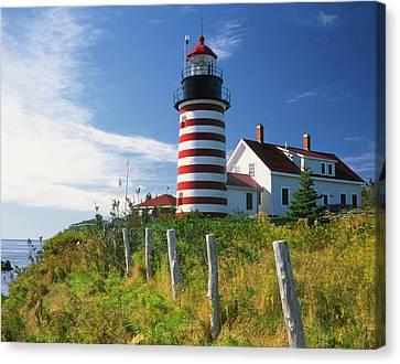 Usa, Maine, Lubec Canvas Print