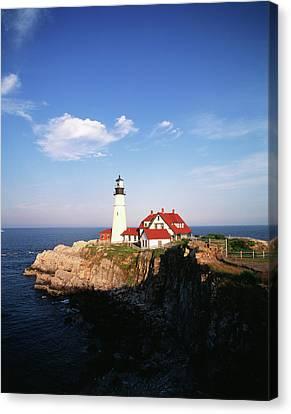 Usa, Maine, Portland, Cape Elizabeth Canvas Print by Walter Bibikow
