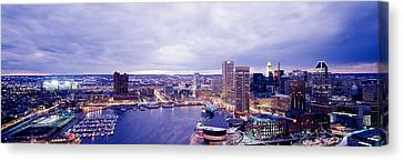 Usa, Maryland, Baltimore, Cityscape Canvas Print by Panoramic Images