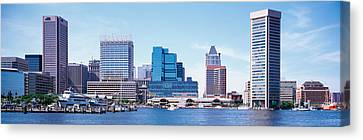 Usa, Maryland, Baltimore, Skyscrapers Canvas Print by Panoramic Images