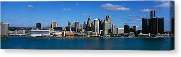 Usa, Michigan, Detroit Canvas Print by Panoramic Images