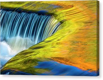 Usa, Michigan, Waterfall, Abstract Canvas Print