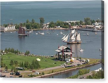 Tall Ship Canvas Print - Usa, Minnesota, Duluth, Duluth Harbor by Peter Hawkins