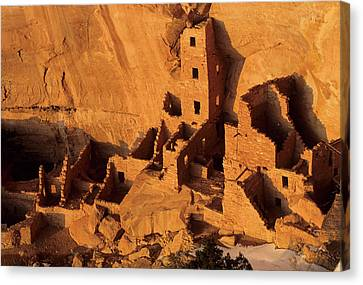 Usa, Native American Cliff Dwellings Canvas Print by Gerry Reynolds