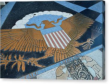 Bas Relief Canvas Print - Usa, Nevada, Bas Relief Plaque Of An by Kevin Oke