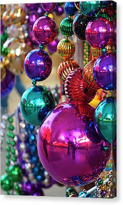 Usa, Nevada Christmas Decorations Canvas Print by Michael Defreitas