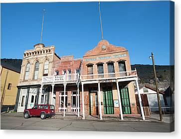 Usa, Nevada Historic Miner's Union Hall Canvas Print