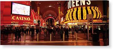 Usa, Nevada, Las Vegas, The Fremont Canvas Print