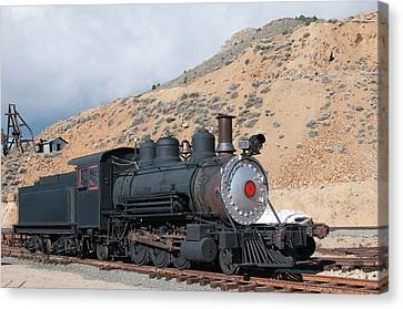 Michael Canvas Print - Usa, Nevada Old Steam Train Engine by Michael Defreitas