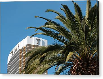 Usa, Nevada Trump Hotel Las Vegas Canvas Print by Michael Defreitas