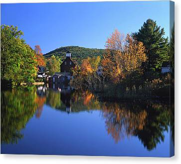Grist Mill Canvas Print - Usa, New Hampshire, Ashland by Jaynes Gallery
