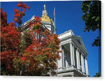 Usa, New Hampshire, Concord, New Canvas Print by Walter Bibikow
