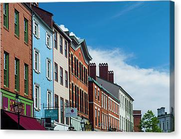Usa, New Hampshire, Portsmouth, Market Canvas Print by Walter Bibikow
