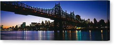 Usa, New York City, 59th Street Bridge Canvas Print by Panoramic Images
