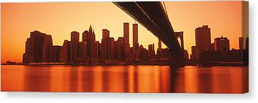 Usa, New York, East River And Brooklyn Canvas Print