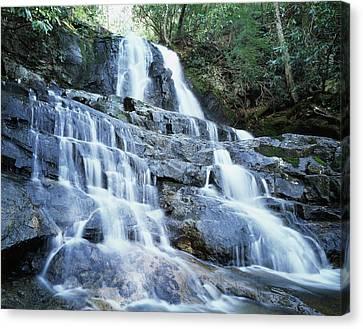 Usa, North Carolina, A Waterfall Canvas Print