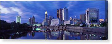 Usa, Ohio, Columbus, Scioto River Canvas Print by Panoramic Images