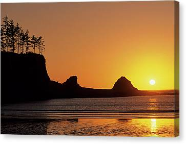 Gerry Canvas Print - Usa, Oregon, Astoria, Sunset, Sunset by Gerry Reynolds