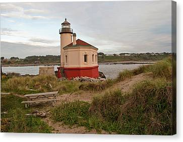 Hawkins Canvas Print - Usa, Oregon, Bandon, Coquille River by Peter Hawkins